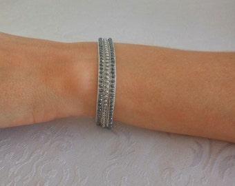Black and Silver Jade bracelet, Womens Jewelry, Silver and gemstone bracelet, colorfull bracelet,Unique jewelry