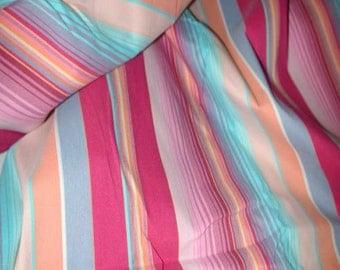 "No. 400 Cotton Striped Fabric With Stretch; 57"" x 80"""