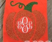 HALLOWEEN TEE Fall Pumpkin Shirt Pumpkin Tee Girl Tee Toddler Tee Monogrammed Tee Vinyl Tee 2T 3T 4T 5 6 7