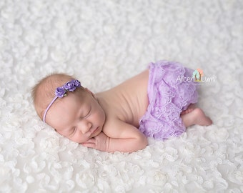 BLOOMER SET, More Colors, Baby Bloomers and Headband, Newborn bloomers, Lace Bloomers, photography prop, newborn photo prop, Lace Bloomers
