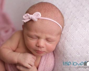 PINK BOW BABY Headband, Newborn Headband, Pink Headband,  Baby Headbands, Newborn Photo Prop, Pink Headband, Baby headbands, Bow Headbands
