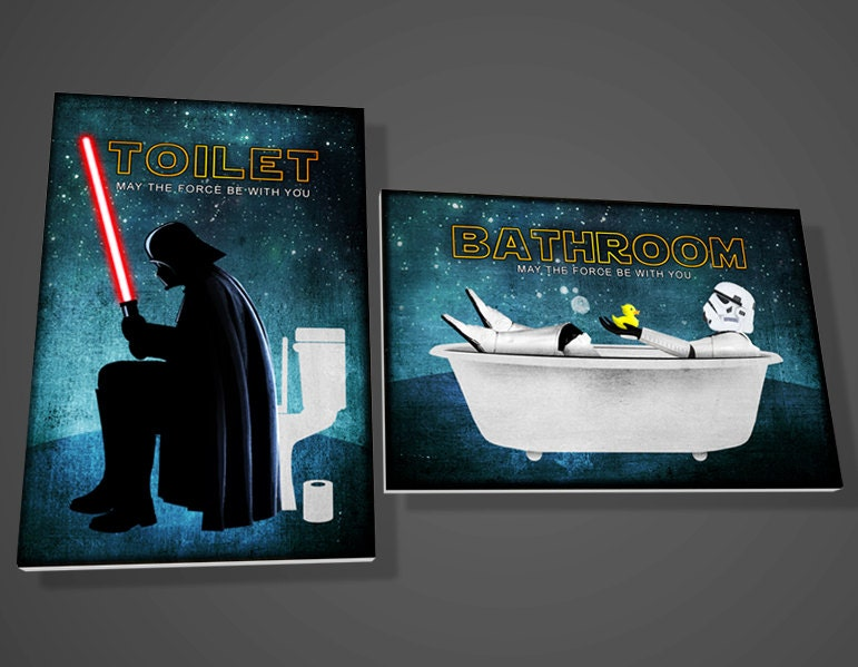 Darth Vader Toilet Signstormtrooper Bathroom Signstar By