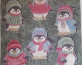 Penguin Ornaments Counted Cross Stitch Kit Laura Doyle Designs Plastic Canvas