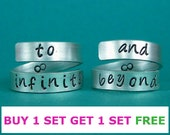 To infinity and beyond,best friends rings,friendship rings.40
