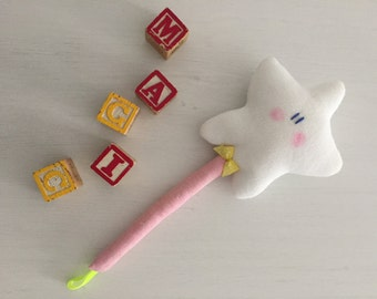 Soft Magic Wand with rattle