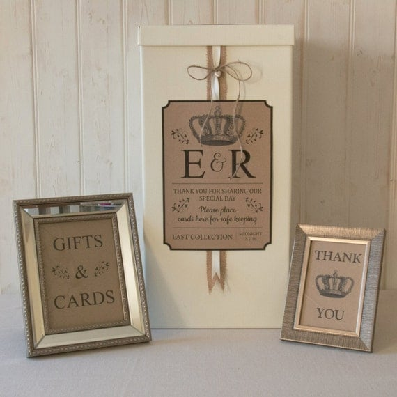 Wedding Gift Post Boxes Uk : Personalised Wedding Card Post Box Hessian twine Traditional Gifts ...