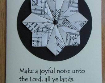 Hymnal Star/Bible Verse All Occasion Blank Notecards Set of 3