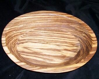 Bowl, Fruit Bowl, Zebra Wood Oval Bowl