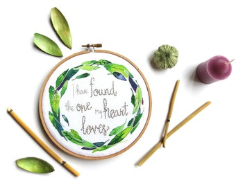 Song of Solomon Scripture Art, I Have Found the One … Christian Wedding Gift Embroidery Hoop Art, Bible Verse Wall Art Anniversary Gift