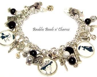 Mary Poppins Bracelet, Mary Poppins Charm Bracelet, Literary Charm Bracelet, Book Bracelet, Mary Poppins Picture Charm Bracelet,