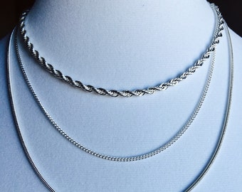 "Silver Trio Necklace - ""Tre"""