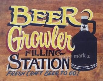 Beer Growler  Print ,refill station