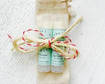 Holiday Lip Butter Gift Set - lip balm - holiday gift set - stocking stuffer