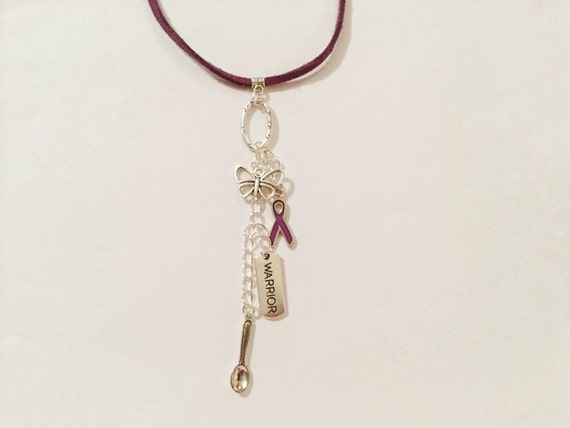 Spoonie Warrior Pendant Necklace or Handbag Charm for Fibro Spoonies, EDS Spoonie Warriors