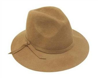 Camel Safari Wool Felt Hat