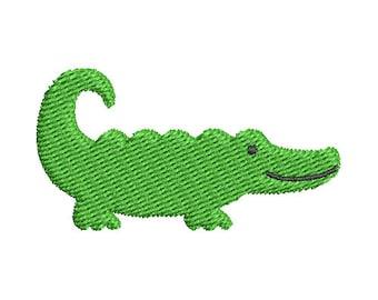 Mini Alligator Embroidery Design - Instant Download