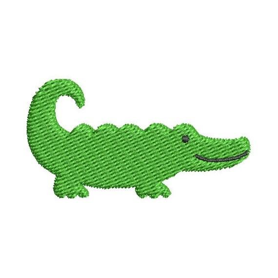 Gunold Embroidery Design: Alligator 1.98 inches H x 4.57 ...  |Alligator Design Embroidery Floss