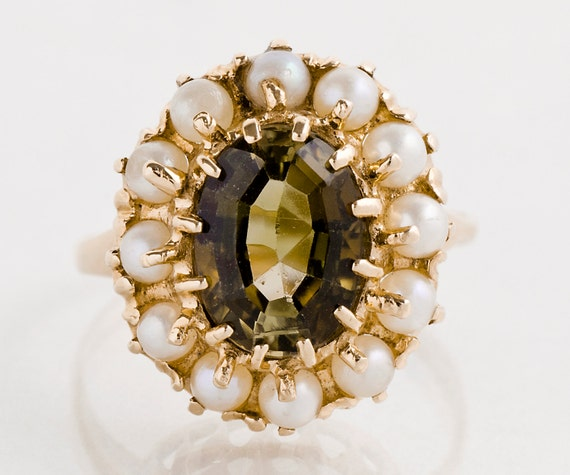 Antique Ring Andalusite Ring Antique 14k Rose Gold