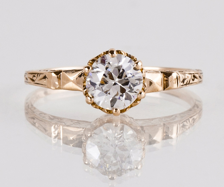 Antique Engagement Ring Antique Victorian Rose Gold