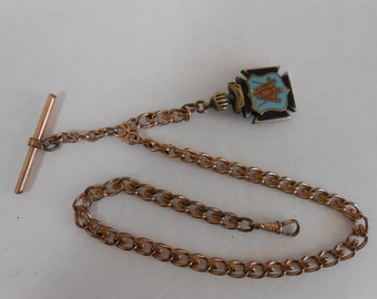 1920 Gold Filled Pocket Watch Chain and fob