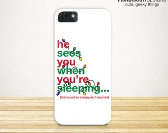 Funny Christmas Phone Case   iPhone 6   iPhone 6 Plus   Samsung Galaxy S4 S5   Santa Claus Holiday Case