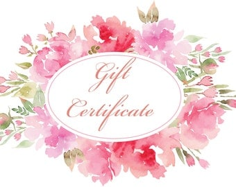 Gift Certificate 25.00 Dollars - The Perfect Gift, Any Occasion Gift Inspiration