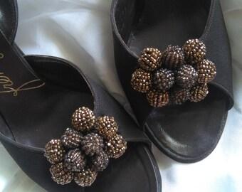 Vintage 50's peep toes sz 6 REDUCED