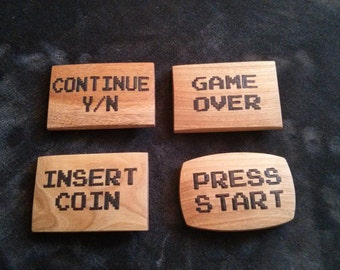Let's Play - Belt Buckle Collection - Set of 4 Wood Belt Buckles