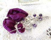 GOD Post Bracelet, Purple Bracelet,  Arabian Style Bracelet,  Purple Agate Bracelet, Bohemian Silk Bracelet, Mother Day Gifts