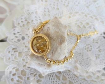 Yellow Bead Bracelet, Turkish Jewelry, Charm Bracelet, Gold Pendant Bracelet, Elegant Bracelet, Best Friend Birthday, Mother'S Day Gift