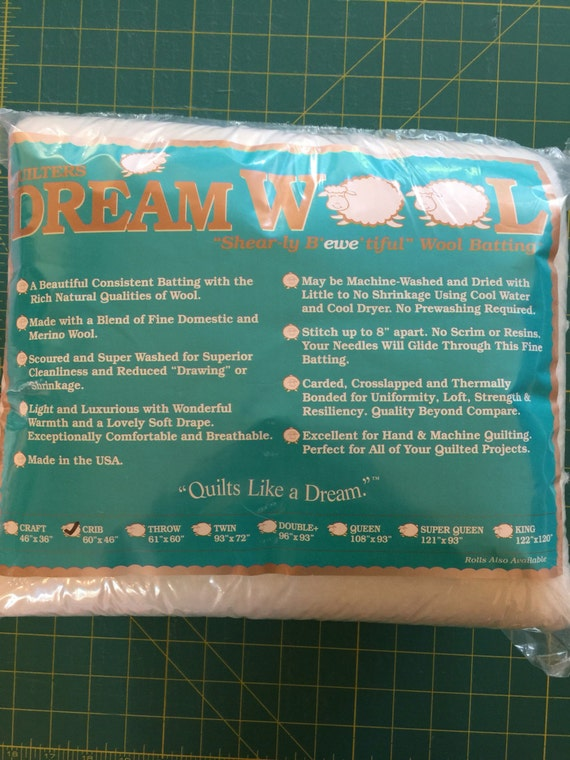 Quilters Dream Wool Batting ~ Crib Size