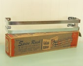 NOS Vintage Chrome Spice Rack, Kenberry USA Spice Shelf with Original Box - Vintage Travel Trailer and Home Decor