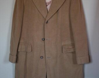 vintage mens camel coat size 46