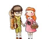 Suzy and Sam Print
