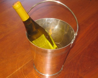 Silver Plated Ice Bucket , 1930's Ice Bucket , Silver Plated