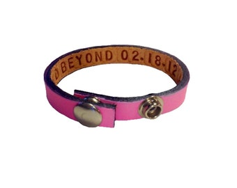 Valentine Personalized Leather Bracelet For Couples hidden message listing is for 1 bracelet only