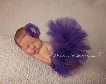 newborn tutu set, newborn photo prop, newborn tutu, baby tutu set, cake smash tutu set, purple tutu, baby tutu, purple tutu set, photo prop,