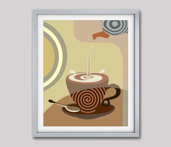 Tea Poster, Tea Art Work, Tea Painting,  Kitchen Wall Art Decor, Tea Art Print, Tea Lovers Decor, Tea Lover Gift, Dinning Room Decor