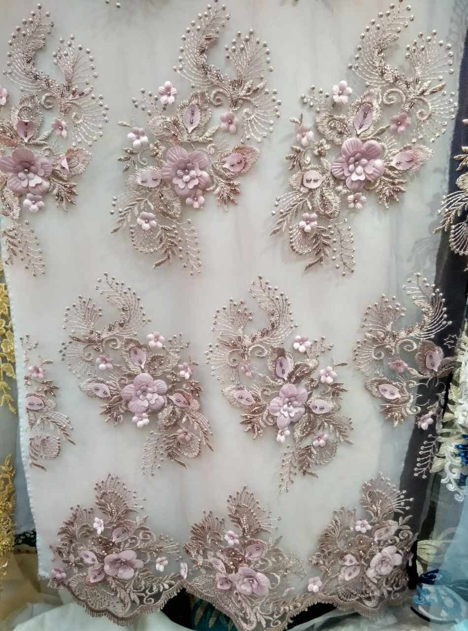 3d lace fabric nude pink lace fabric with 3d flowers 3d plum for Fabric cloth material