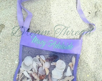 SALE!! FINAL INVENTORY!!! Monogram Seashell Tote, Seashell bag, Monogram kids, Summer, Beach (made to order)