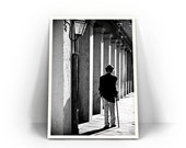 Anansi Old Man fine art photography travel wall decor New Orleans French Quarter shadow fancy black and white gifts under 50