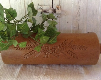 Rolling Pin Faux Wood Planter Plastic Home Interiors Wall Table Decor Retro Kitchen Farmhouse Cottage Country Baking Theme Brown