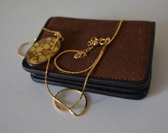 Coin purse plus pendant, vintage Japanese fabric