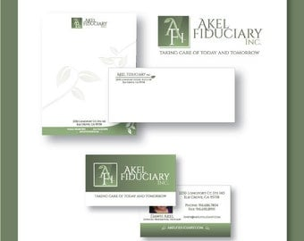 Custom Print Marketing Package - Professional Business Logo - Stationery Design (includes Letterhead and Envelope) - Business Card Design