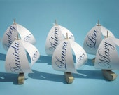 14 sailboat table number holders for Claritza