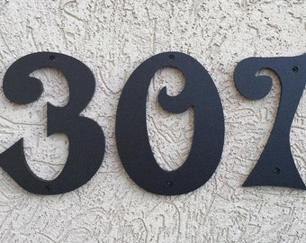 "5.5"" Stylized House Numbers Letters black or white"