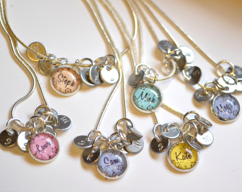 6 best friend necklaces 6 friendship necklace personalized