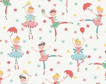 Fat Quarter Tutu Ballerinas Dancers Dancing 100% Cotton Quilting Fabric Makower