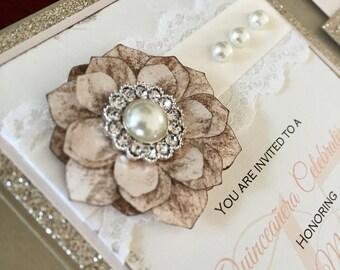 Vintage Lace Wedding Invitation Suite