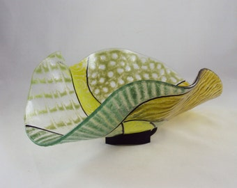 green wave bowl/sculpture